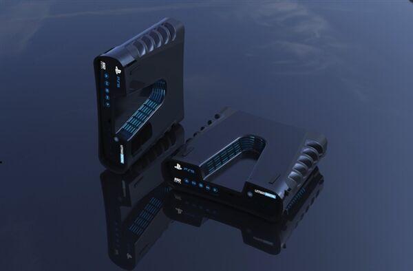 索尼PS5最新渲染图曝光 机身两侧的众多散热开孔极具科幻感