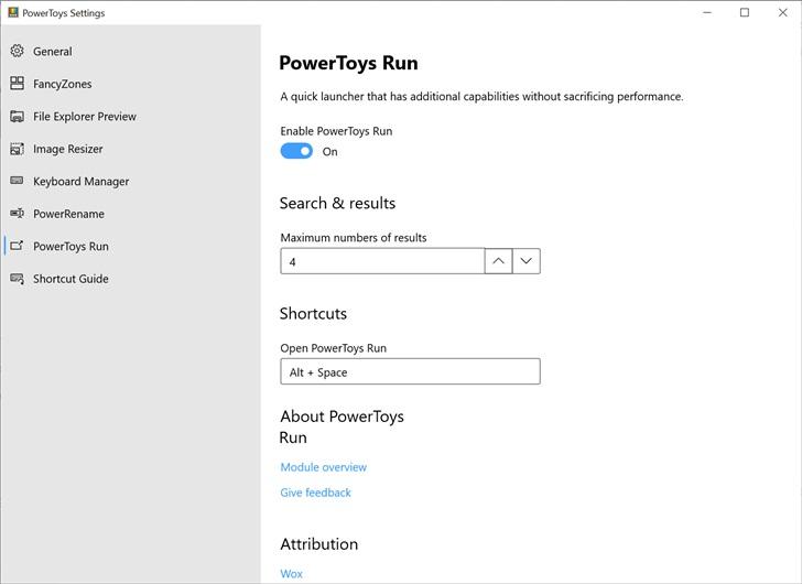 微软发布了PowerToys 0.18.0版本 新增了PowerToys Run 和键盘管理器