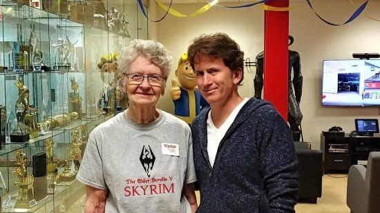 83岁老奶奶热爱着《上古卷轴5》:最近减少视频产出 键盘侠指点太烦人